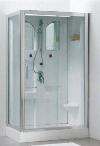 komplettdusche 120x80 mit massaged sen und schiebet r. Black Bedroom Furniture Sets. Home Design Ideas
